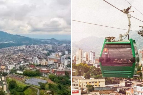 inauguran el cable aereo de transporte publico mas largo de colombia tiene 3 4 kilometros